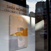 """Chromatic Dissonance"" Jennifer Kostuik Gallery Vancouver 2008 – photo by Rachel Saunders"