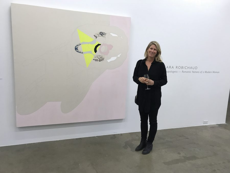 Artist at Opening of Unapologetic — Romantic Notions of a Modern Woman