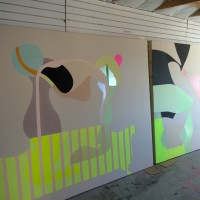 Unapologetic Paintings in Nanaimo studio Summer 2015