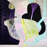 """Inherited Patterns 74"""" × 48"""" 2011–15"""
