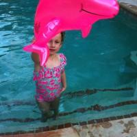 Amélie in Grammas pool