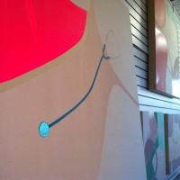 I love your pool Gramma detail & Mother Tongue paintings in the studio Summer 2014