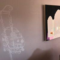 Living Room Vanitas & Venetian lamp wall painting